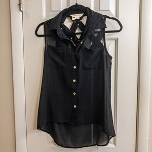 XS BCBGeneration Sleeveless Blouse